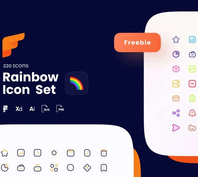 Free Rainbow Icon Pack