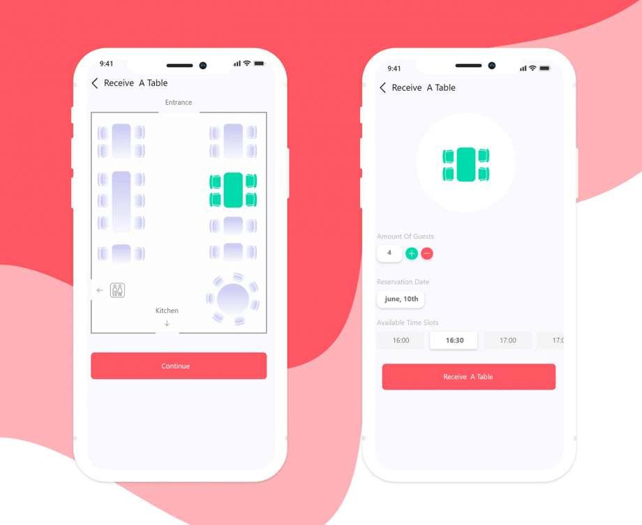 Free Restaurant Booking App UI Kit