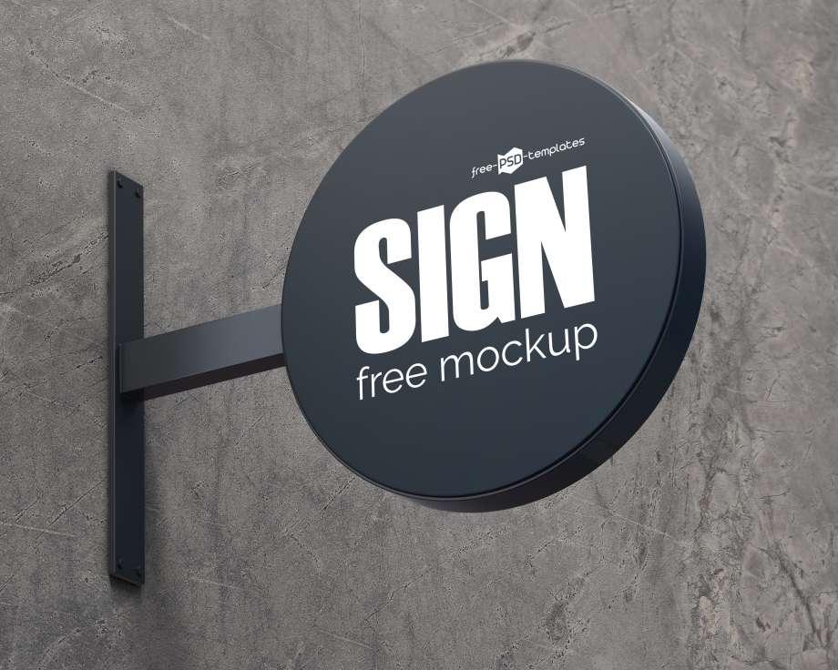 Free Sign Mockup (PSD)