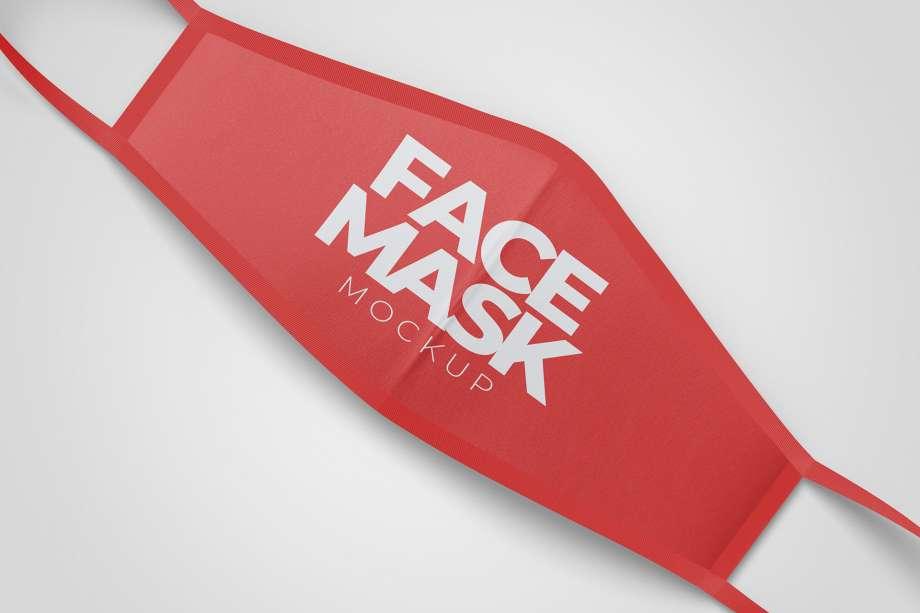 Free Simple Face Mask Mockup