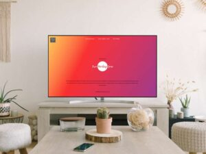 Free Smart TV Screen Mockup