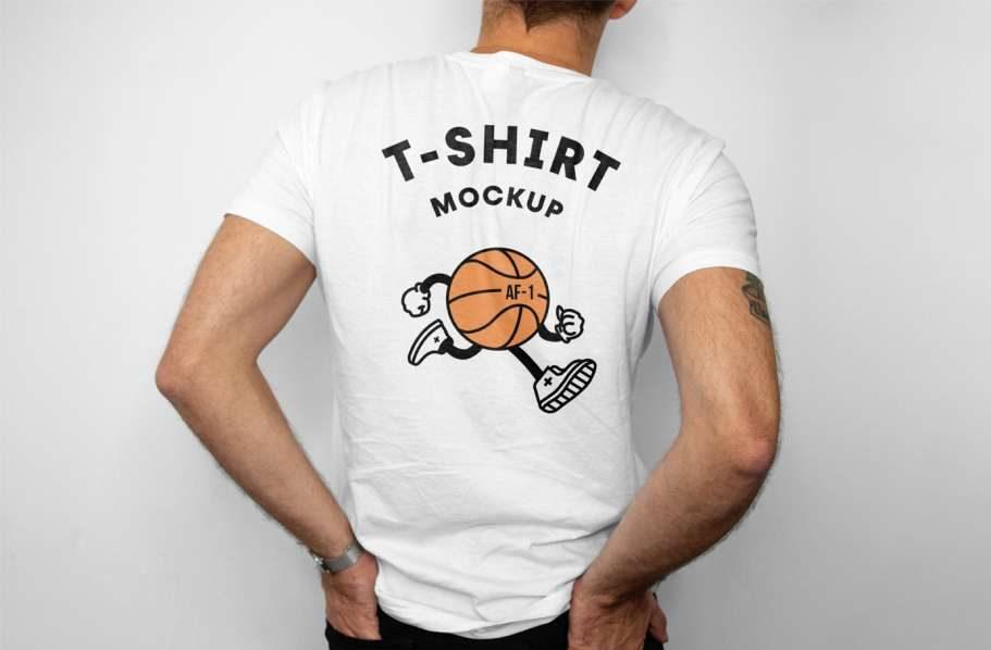 Free T-Shirt Back Mockup