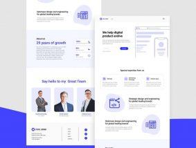 Free Tech Business Landing Page