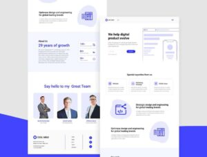 Free Tech Business Landing Page