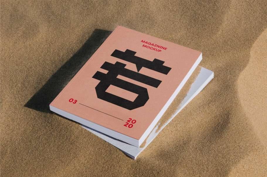 Free Thick Magazine Mockup