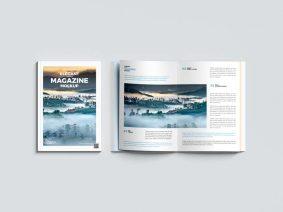 Free Top View Magazine Mockup