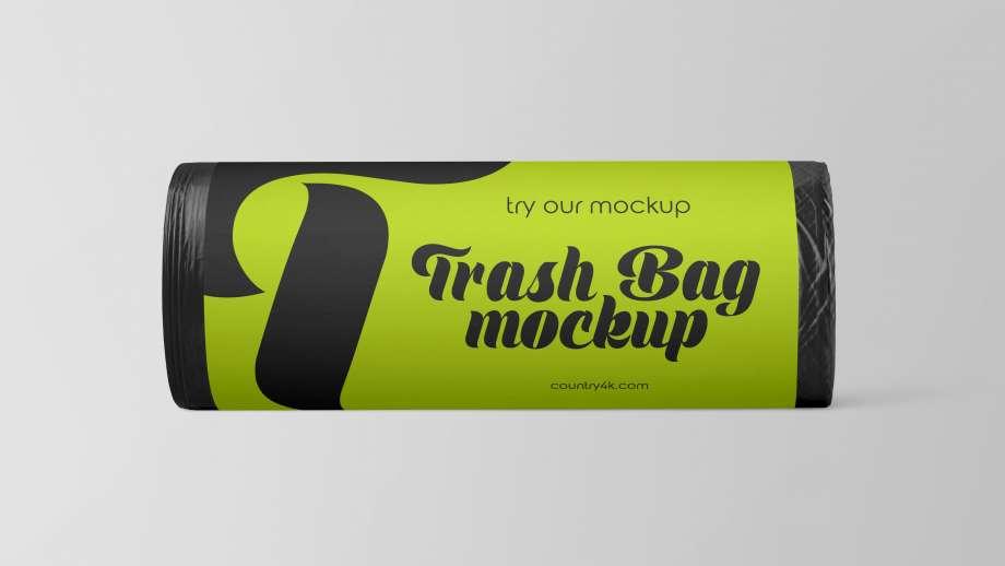 Free Trash Bags Mockup
