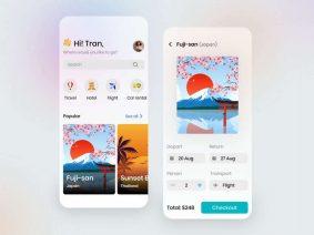 Free Travel App Design UI Kit