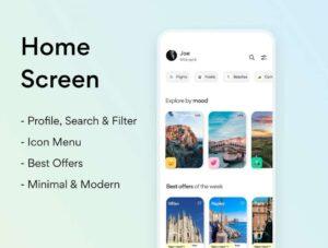 Free Travel App UI Kit Design