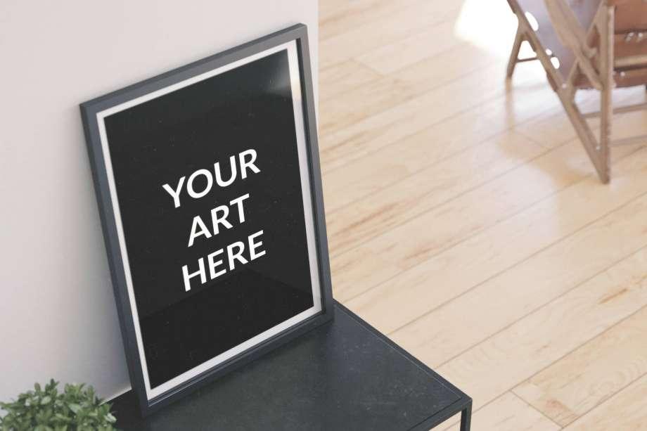 Free Vertical Poster Frame Mockup