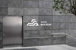 Free Wall Logo Mockup