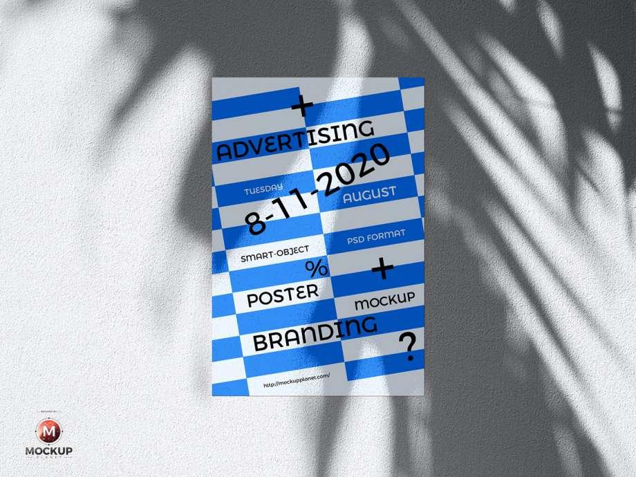 Free Wall Poster Mockup