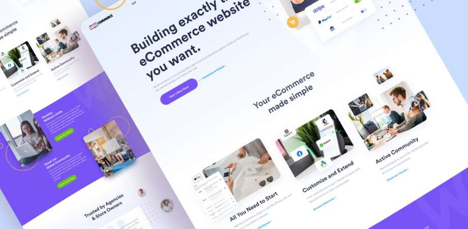 Free Woocommerce Redesign Landing Page