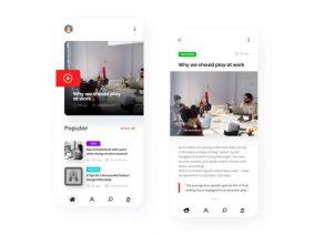 Free Blog App UI Kit