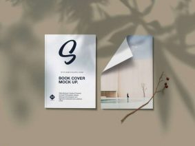 Free Book Cover and Flyer Mockup (PSD)