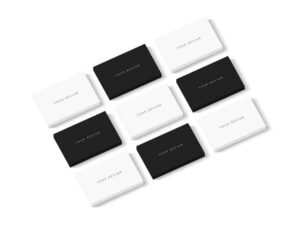 Free Business Card Showcase Mockup