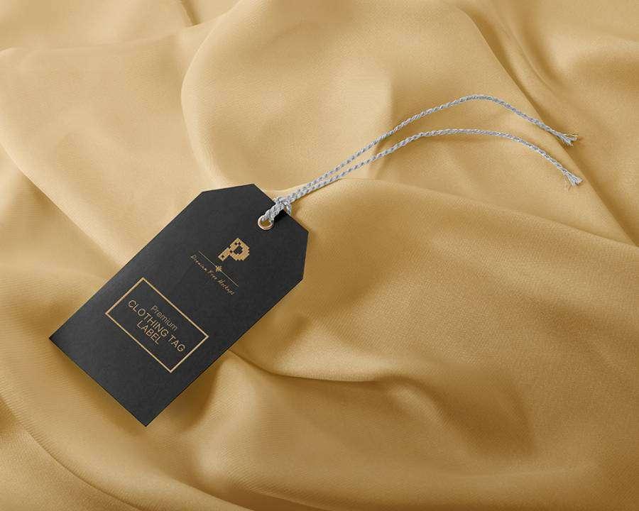 Free Clothing Tag Label Mockup
