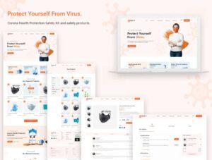 Free Coronavirus eCommerce Website Template UI Kit (XD)