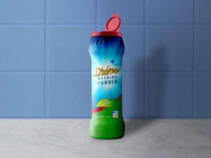 Free Dishwashing Powder Plastic Bottle Mockup