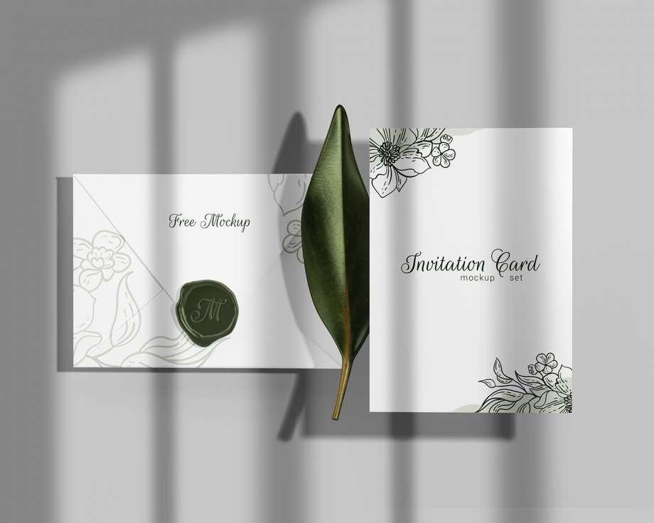 Free Elegant Invitation Mockup