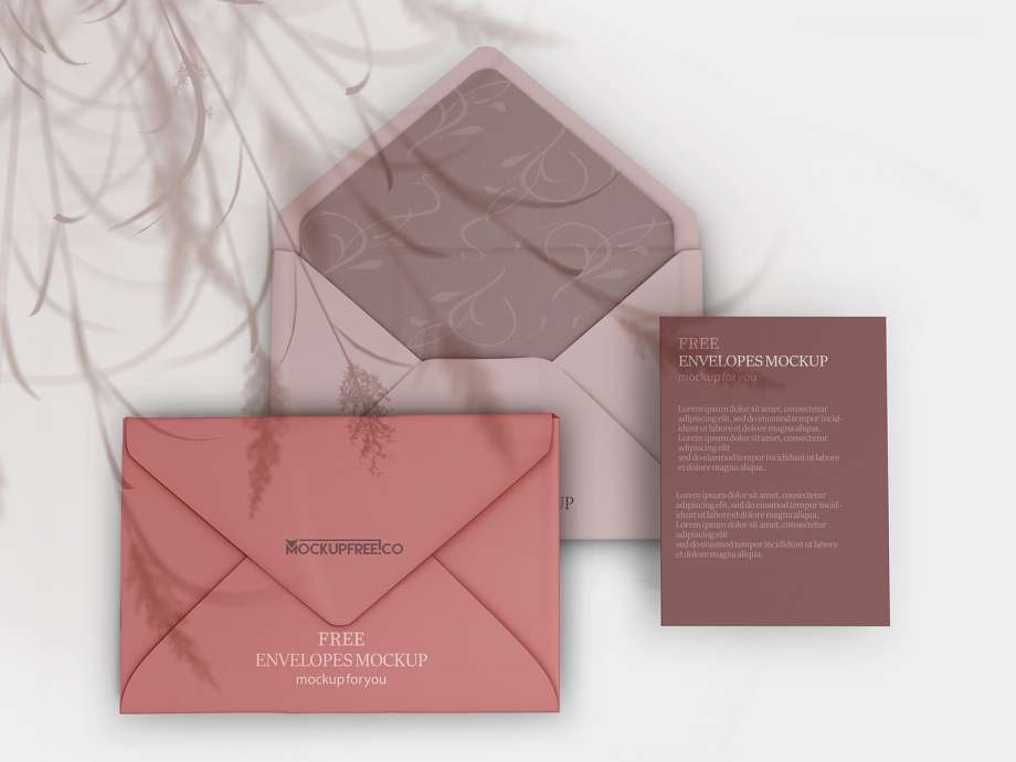 Free Envelopes Set Mockup