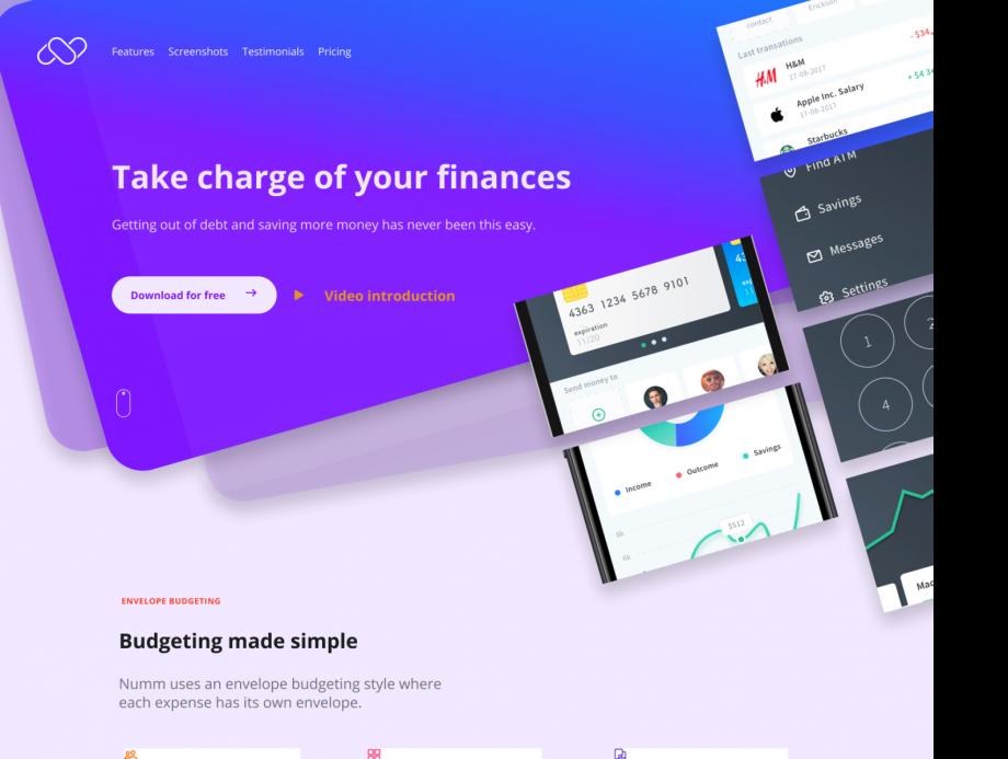 Free Figma Web Landing Page Design