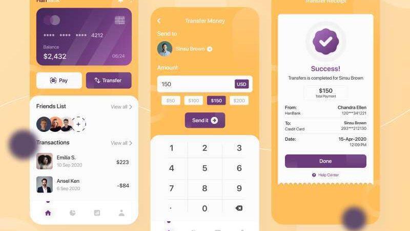 Free Finance App Concept UI Kit