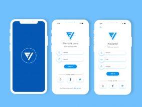 Free Future Mobile App Login & Sign Up UI Kit