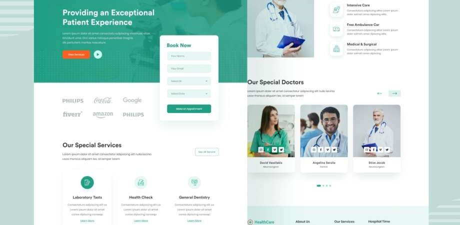 Free Healthcare Landing Page