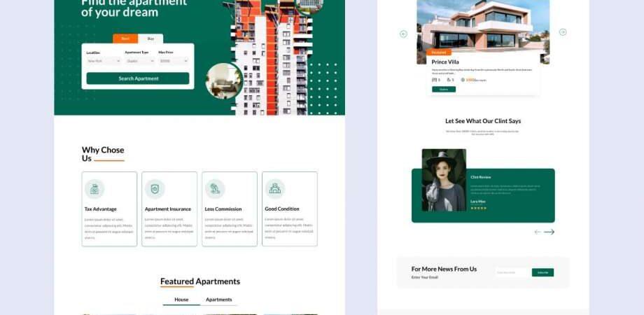 Free Home Finder Website Template