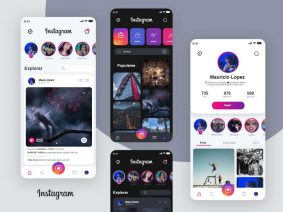 Free Instagram APP Redesign UI Kit