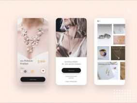 Free Jewelry Shop App Design UI Concept