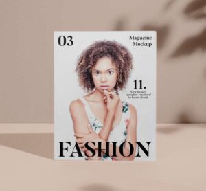 Free Magazine Cover with Shadows Mockup