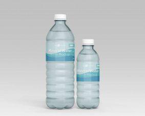 Free Mineral Water Bottle Mockup