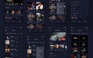 Free Muzic APP UI Kit