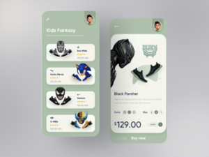 Free Orix Shoes Product App UI Kit