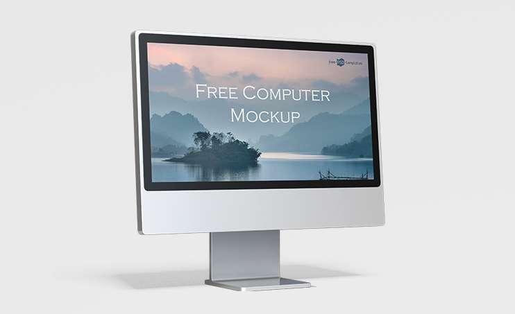 Free PC Monitor Screen Mockup