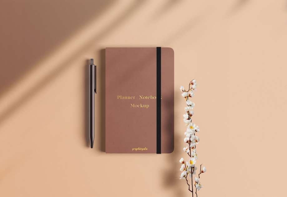 Free Planner Notebook Mockup