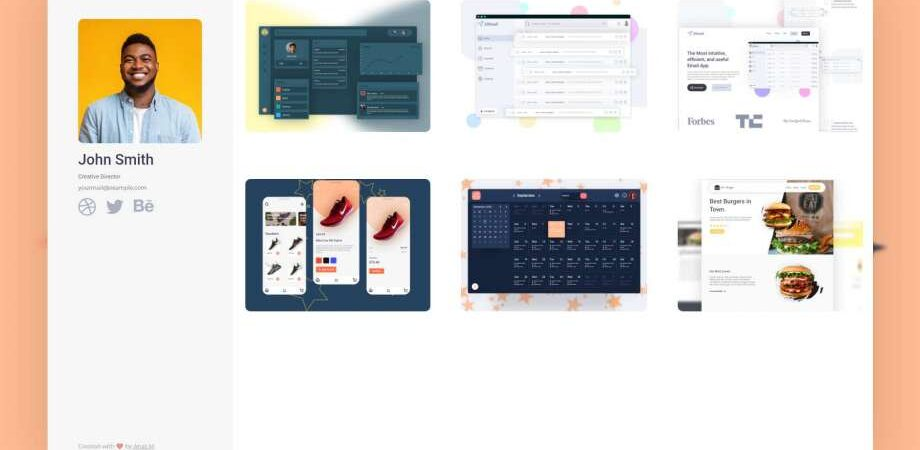 Free Portfolio Me Website Template (HTML & XD)