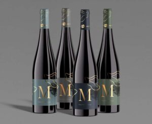 Free Set of Wine Bottles Mockup