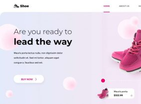 Free Shoes eCommerce Landing Page