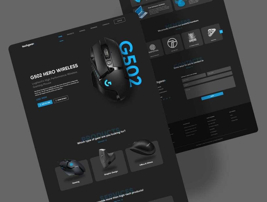 Free Techgear Landing Page