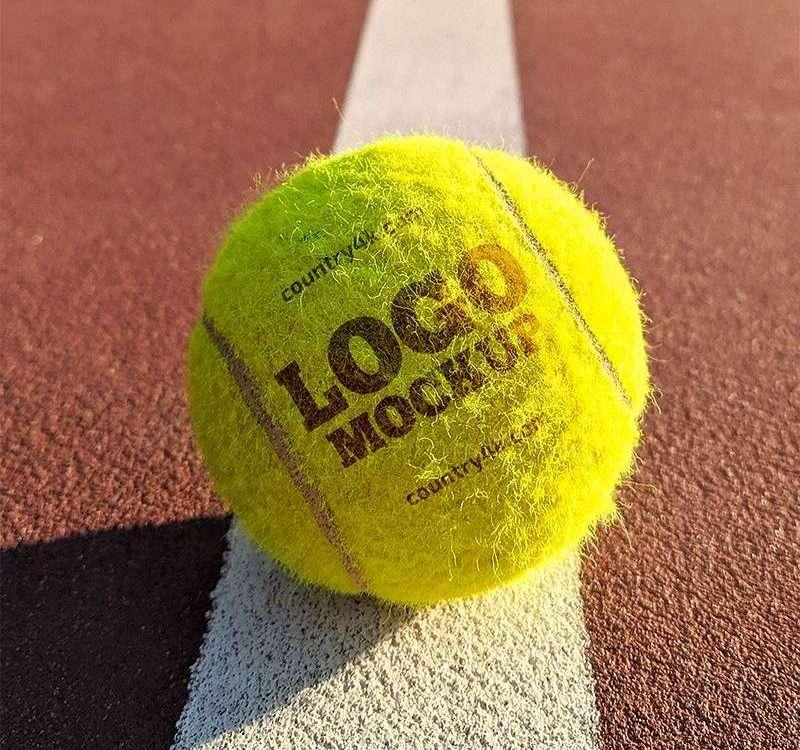 Free Tennis Ball Logo Mockup (PSD)