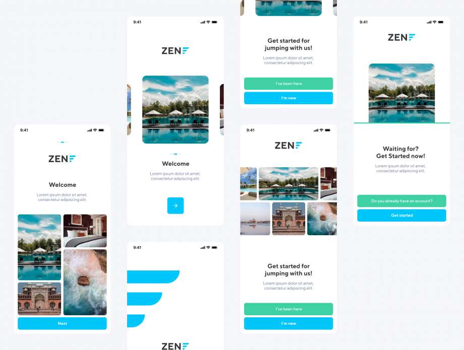 Free ZEN Onboarding Screens UI Kit