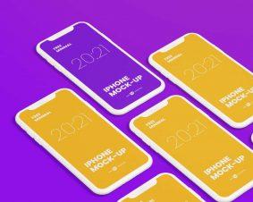 Free iPhone Mockup Set