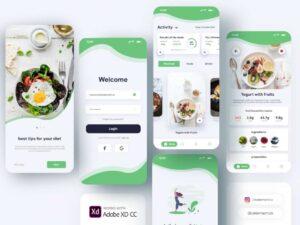 Free Diet App Concept UI Kit