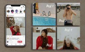 Free Instagram UI with iPhone Mockup