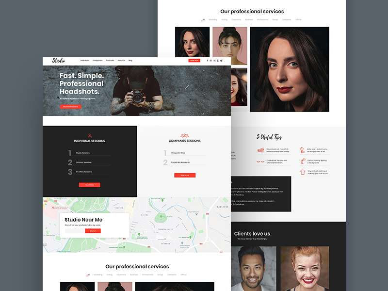 Free Photography Studio Website Template