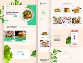 Free Restaurant Website Landing Page