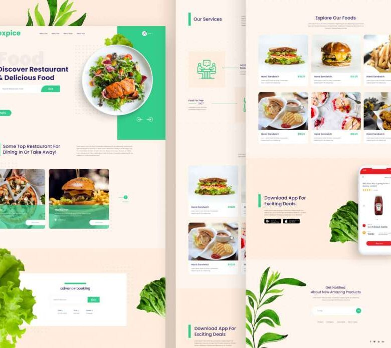 Free Restaurant Website Landing Page